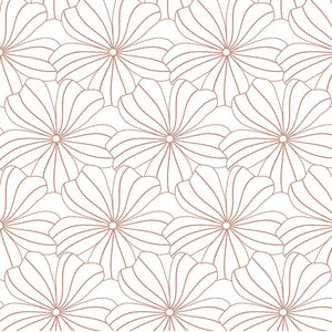 Swedish Linens hoeslaken - Flowers White - 90X200cm