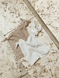 Liewood Yoko mini cuddle cloth set van 2 - Sandy stone beige
