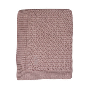 Mies en co soft knitted blanket pale pink