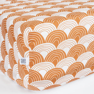 Swedish Linens hoeslaken regenbogen - cinnamon brown 70X160 cm