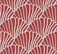 Swedish Linens hoeslaken seashells- burgundy 90 X 200