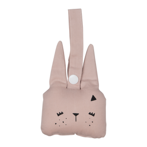 Fabelab animal rattle bunny mauve