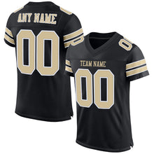 Load image into Gallery viewer, Custom Black Vegas Gold-White Mesh Authentic Football Jersey