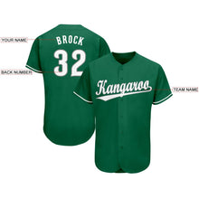Load image into Gallery viewer, Custom Kelly Green White-Gray Baseball Jersey