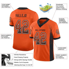 Load image into Gallery viewer, Custom Orange Black-White Mesh Drift Fashion Football Jersey