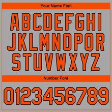 Load image into Gallery viewer, Custom Gray Orange-Black Authentic Baseball Jersey