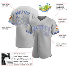 Load image into Gallery viewer, Custom Gray Gray Royal Authentic Baseball Jersey