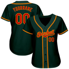 Load image into Gallery viewer, Custom Green Red-Gold Authentic Baseball Jersey