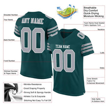 Load image into Gallery viewer, Custom Midnight Green Gray-White Mesh Authentic Football Jersey