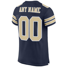 Load image into Gallery viewer, Custom Navy Vegas Gold-White Mesh Authentic Football Jersey