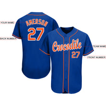 Load image into Gallery viewer, Custom Royal Orange-White Baseball Jersey