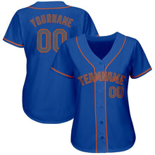 Load image into Gallery viewer, Custom Royal Gray-Orange Baseball Jersey