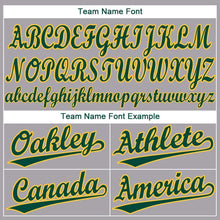 Load image into Gallery viewer, Custom Gray Green-Gold Baseball Jersey