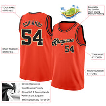 Load image into Gallery viewer, Custom Orange Black-Cream Round Neck Rib-Knit Basketball Jersey