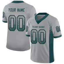 Load image into Gallery viewer, Custom Light Gray Midnight Green-Black Mesh Drift Fashion Football Jersey