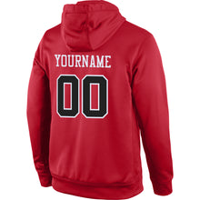 Load image into Gallery viewer, Custom Stitched Red Black-White Sports Pullover Sweatshirt Hoodie
