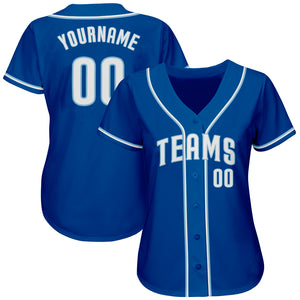 Custom Royal White-Light Blue Authentic Baseball Jersey