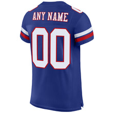 Load image into Gallery viewer, Custom Royal White-Red Mesh Authentic Football Jersey