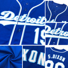 Load image into Gallery viewer, Custom Royal Light Blue-Red Authentic Baseball Jersey