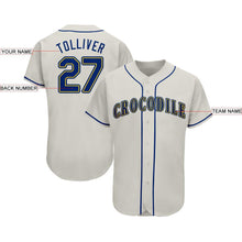 Load image into Gallery viewer, Custom Cream Royal-Gold Baseball Jersey