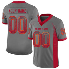 Load image into Gallery viewer, Custom Gray Red-Orange Mesh Drift Fashion Football Jersey