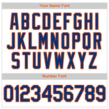 Load image into Gallery viewer, Custom White Royal Strip Royal-Orange Authentic Baseball Jersey