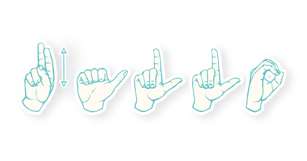 Hallo gebarentaal dutch sign language | Tucreate illustration illustratie gebarenkaart