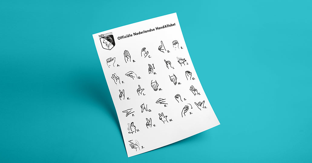 Gebarenkaart Dutch sign language card NDJ | Tucreate branding online offline designs Delft Rotterdam