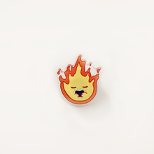 Load image into Gallery viewer, Calcifer button pin ghibli