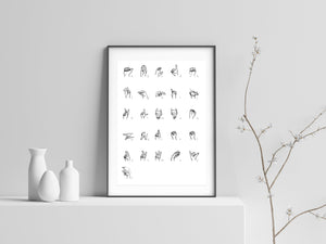 American sign language Wall Decor Poster