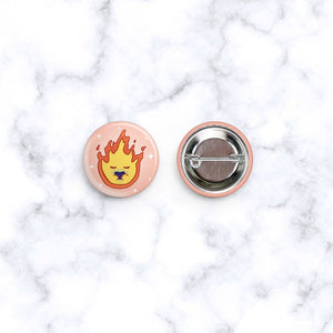 Calcifer Fire demon Studio Ghibli Pin Button Brooch Badge Badges