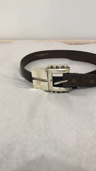 Kieselstein-Cord Alligator 1986 Brown Belt w/Silver Buckle