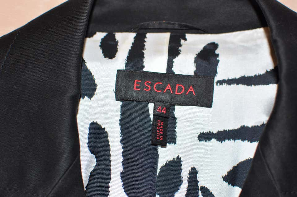 Escada Black Cotton Vest with Lace-Up Detail (44 Germany)