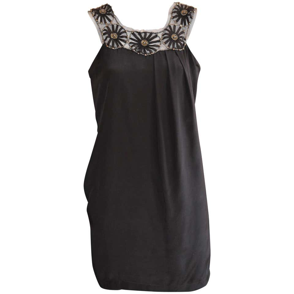 Philosophy Di Alberta Ferretti Black Silk Dress