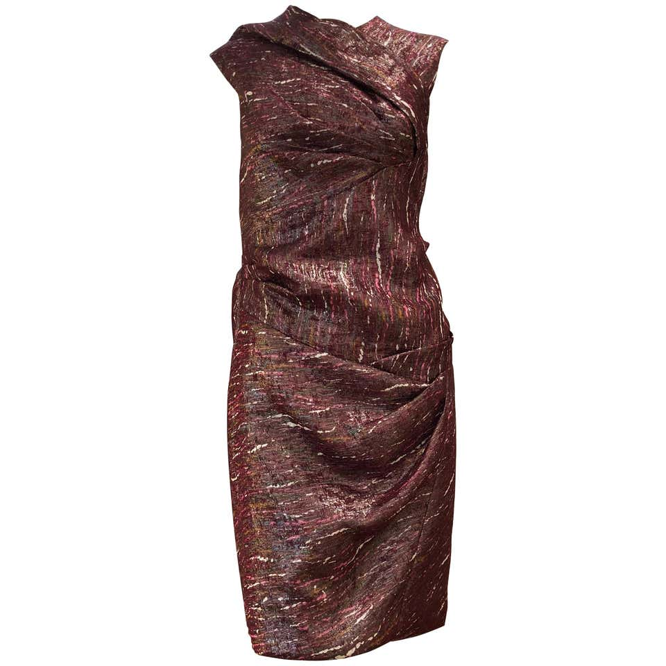 Ports 1961 Draped Shimmering Dress (2)