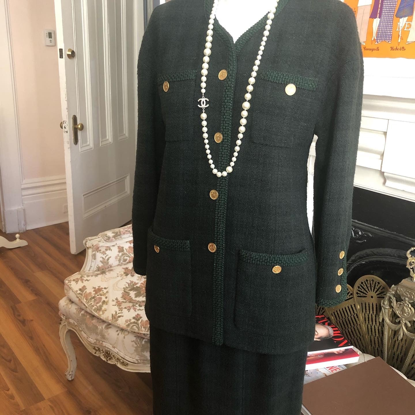 Chanel 1980s Skirt Suit 40Fr