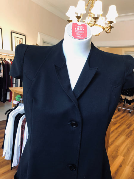 Givenchy 2011P Collection Black Cotton Shirt Dress 42 (Itl)