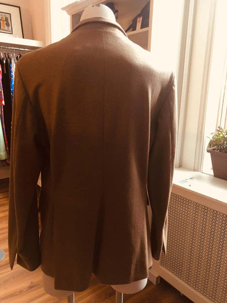 "Jil Sander ""Tailor Made"" 55% Cashmere Warm Taupe Coloured Blazer NWT - 42"