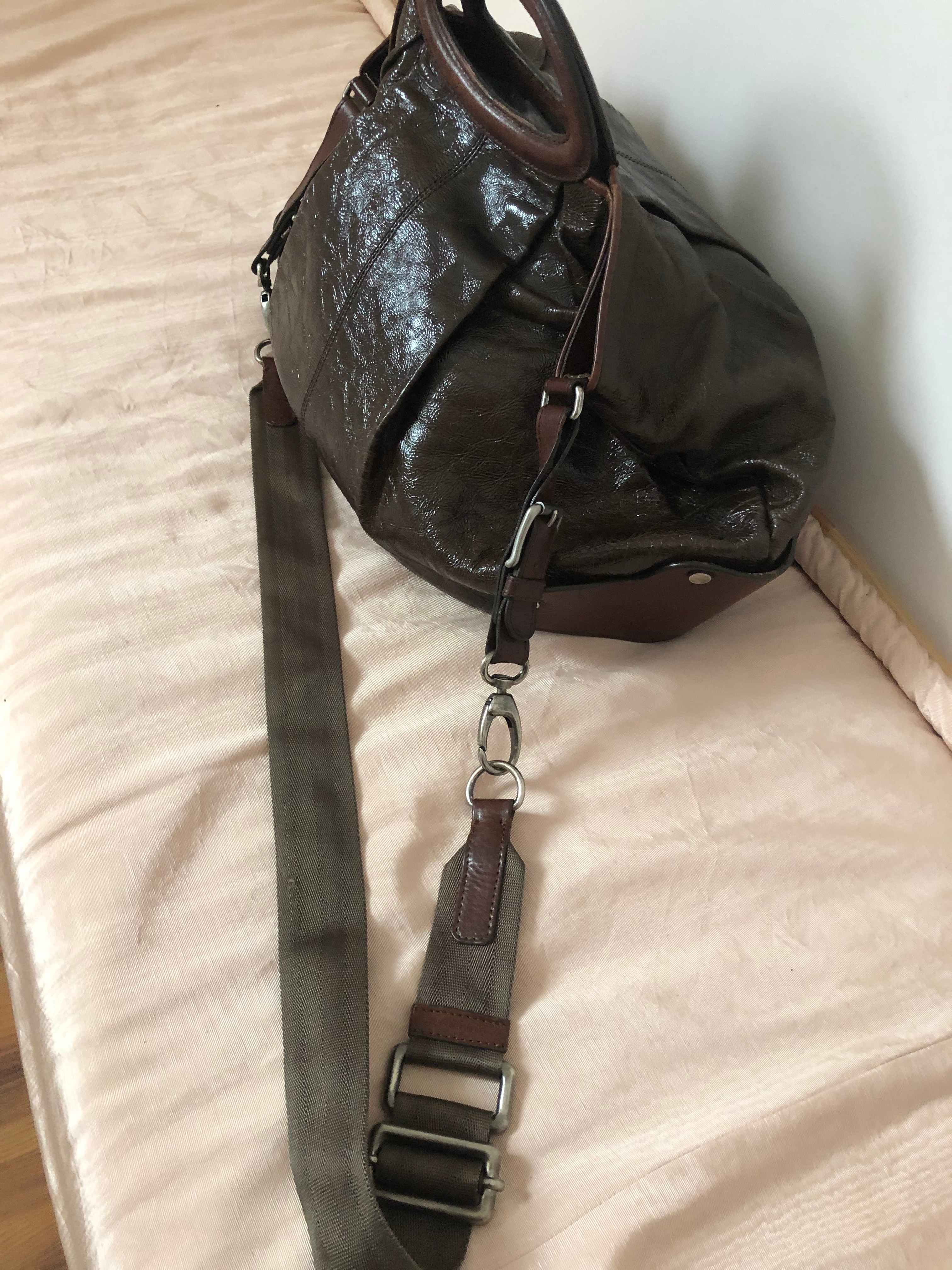 MARNI Balloon Leather Two-Way Hobo Handbag