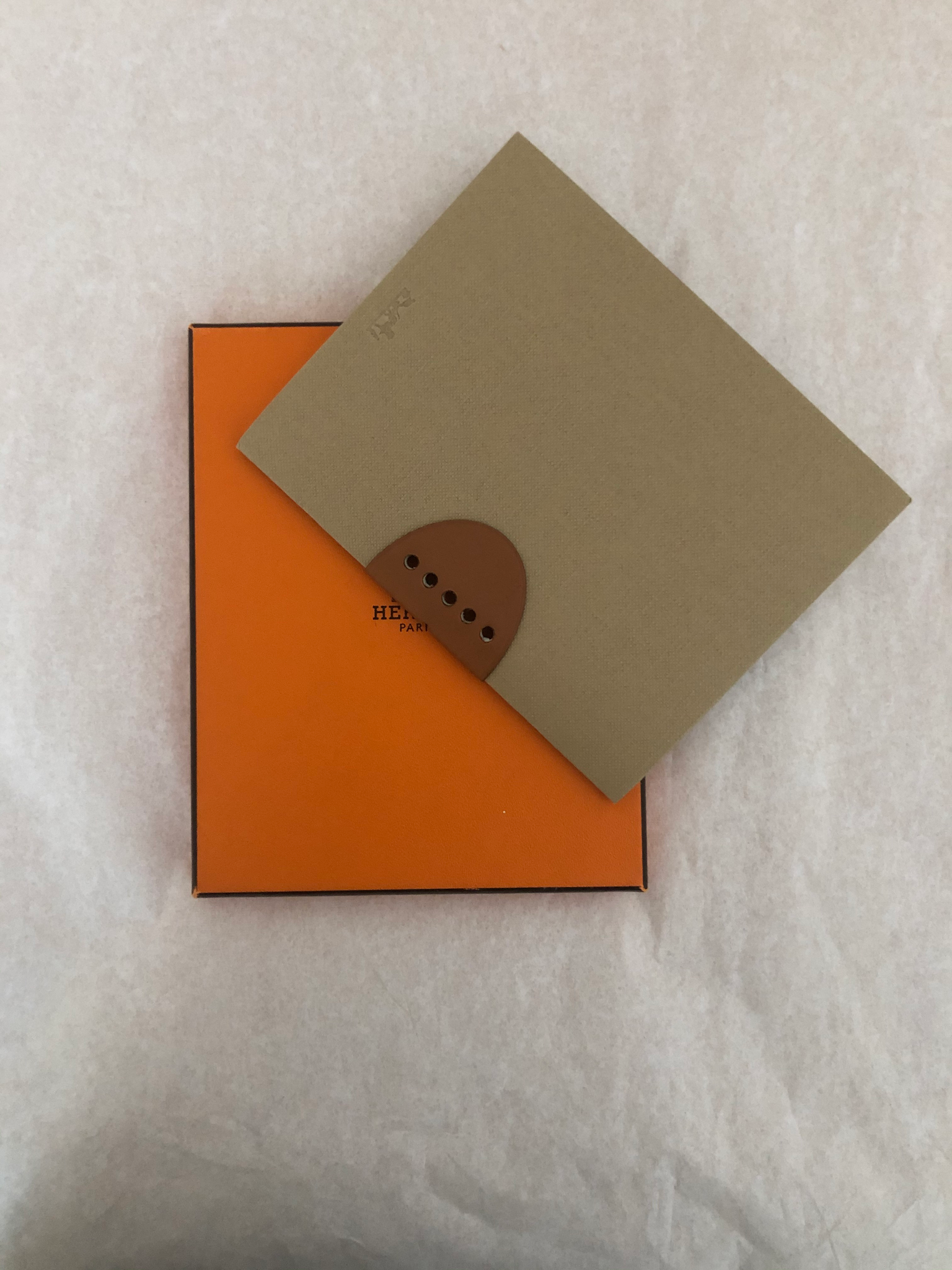 Hermes Rice Paper Notebook w/Leather