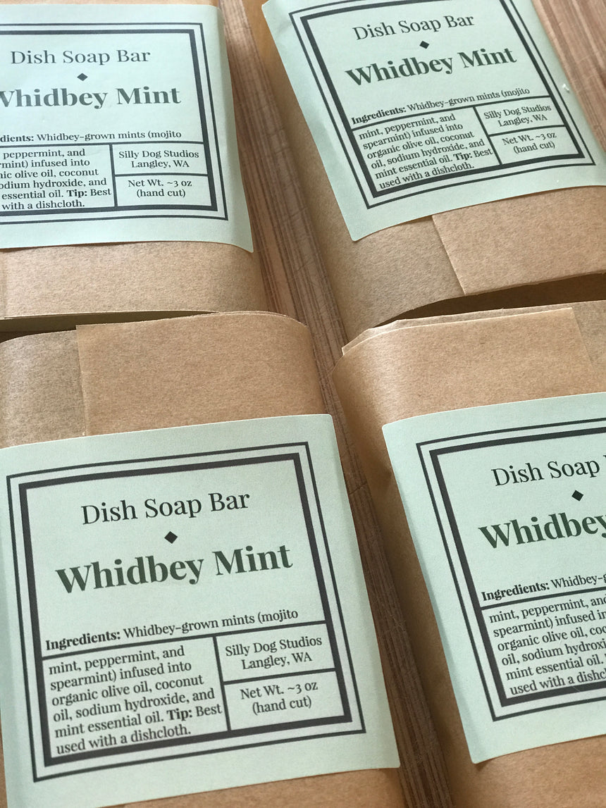 Whidbey Mint Dish Soap Bar