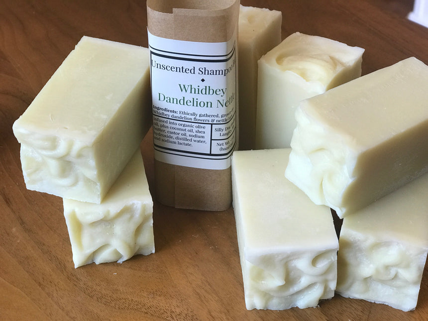 Unscented Dandelion Nettle Shampoo Bar