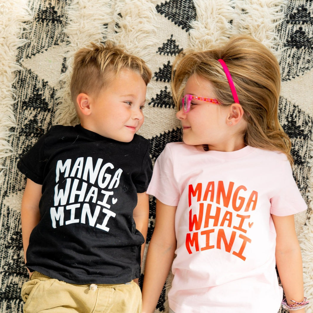 MANGAWHAI MINI tee - BLACK