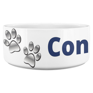 Dog Bowl, Blue Conservative Pooch