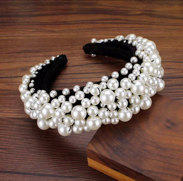 Luxury Pearl white Headband