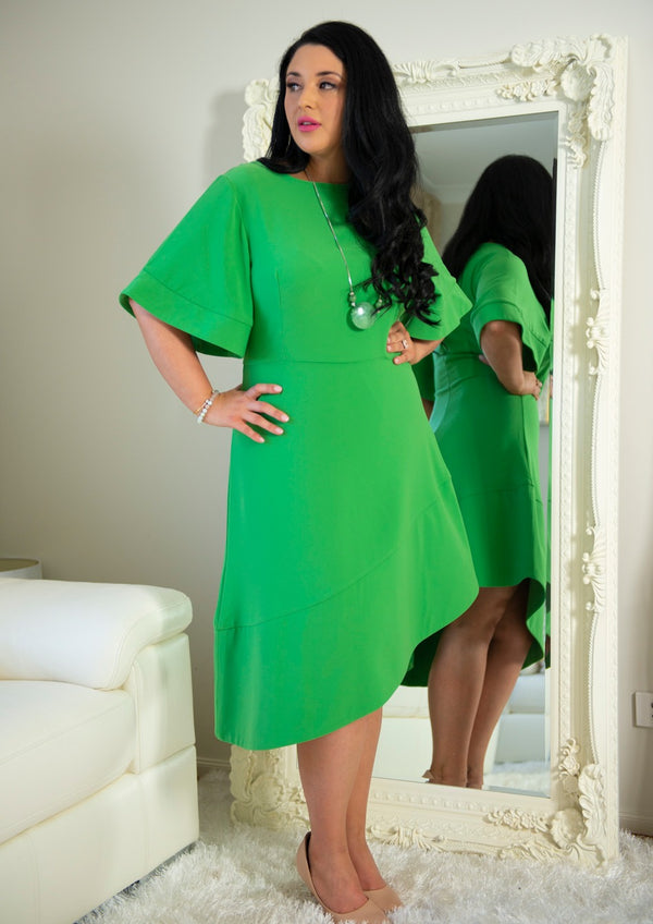 Clara Green High Low Dress