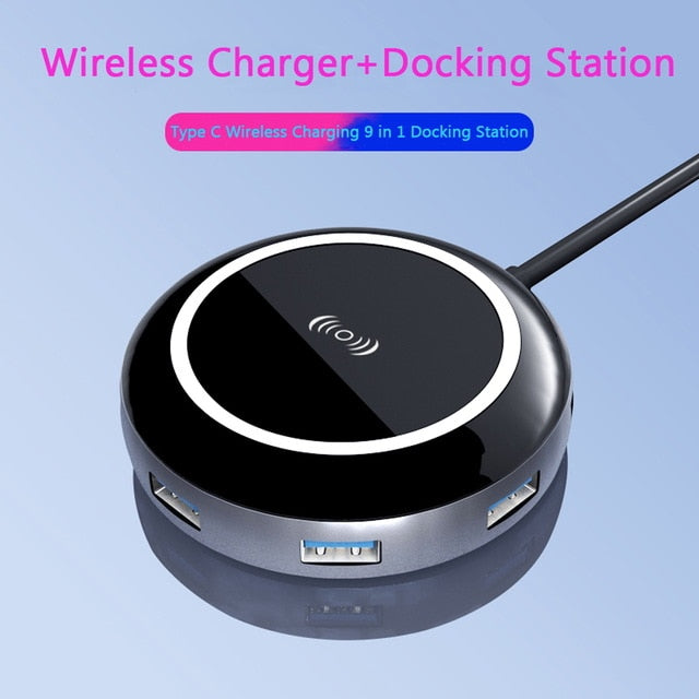 USB Converter With Wireless Charger (Europe Only)