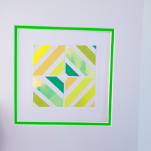 Load image into Gallery viewer, Green Geo 1 | Kaleido Neon/Holographic/Pastel