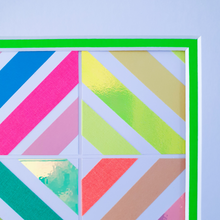 Load image into Gallery viewer, Green Geo 3 | Kaleido Neon/Holographic/Pastel