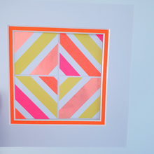 Load image into Gallery viewer, Orange Geo 8 | Kaleido Neon/Holographic/Pastel